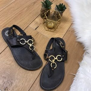 Tory Burch Brown Leather Sandals